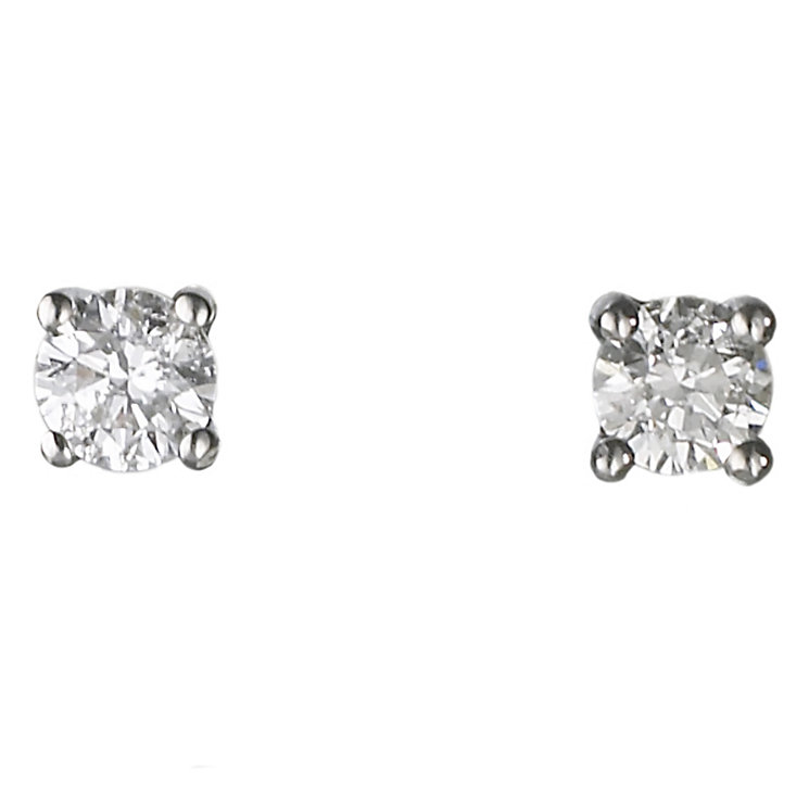 Platinum gold 0.25ct diamond H-J I2 earrings - Product number 2550040