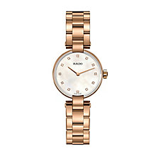 Rado ladies' rose gold-plated diamond set bracelet watch - Product number 2550067