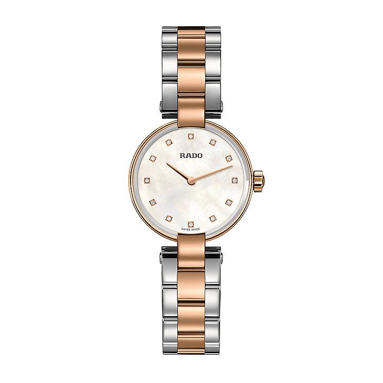 Rado ladies' two colour diamond set bracelet watch - Product number 2550075