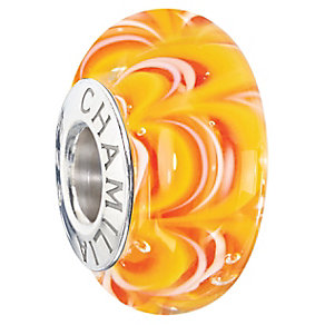 Chamilia Silver & Murano Glass Tequila Sunrise Bead - Product number 2551004