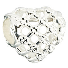Chamilia Sterling Silver Yarn & Pearl Heart Bead - Product number 2551071