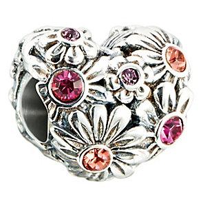 Chamilia Silver & Swarovski Elements Zinnia Heart Bead - Product number 2551128