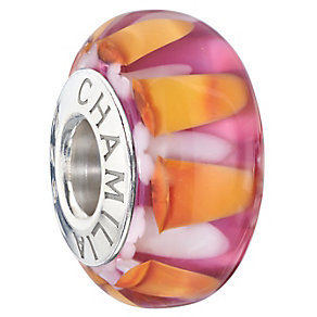 Chamilia Silver & Murano Glass Abstract Florals Bead - Product number 2551365
