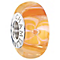 Chamilia Silver & Orange Murano Glass Flirty Florals Bead - Product number 2551381