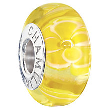 Chamilia Silver & Yellow Murano Glass Flirty Florals Bead - Product number 2551411