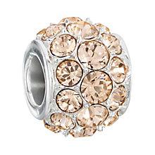 Chamilia Silver & Peach Swarovski Crystal Splendor Bead - Product number 2551454