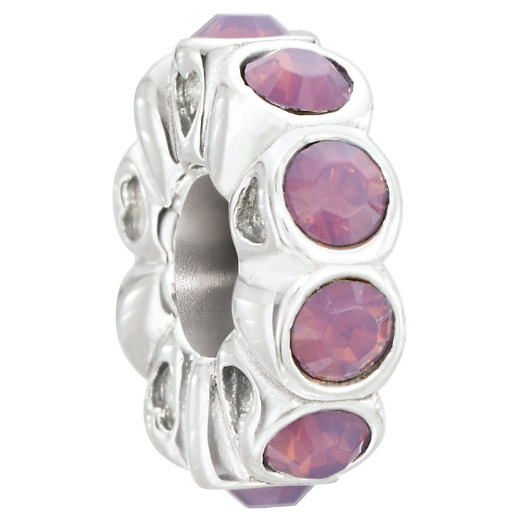 Chamilia Silver & Pink Swarovski Crystal Whimsy Bead - Product number 2551489