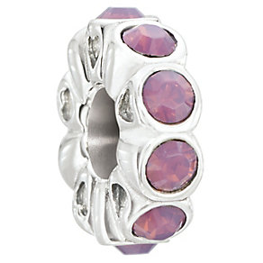 Chamilia Silver & Pink Swarovski Elements Whimsy Bead - Product number 2551489