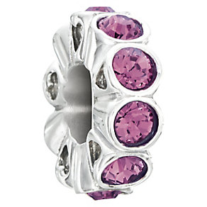 Chamilia Silver & Purple Swarovski Elements Whimsy Bead - Product number 2551497