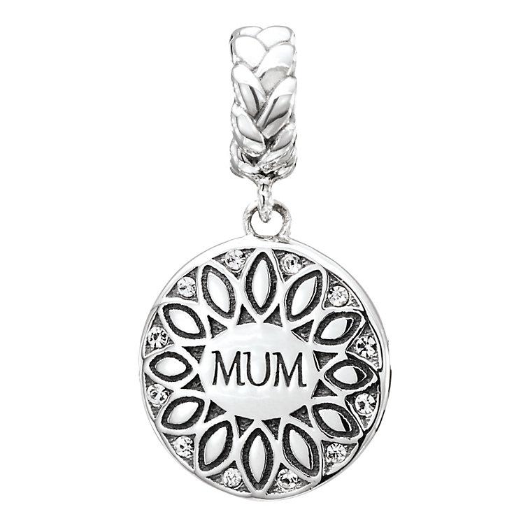 Chamilia Silver & Swarovski Crystal Mum Sunflower Bead - Product number 2551519