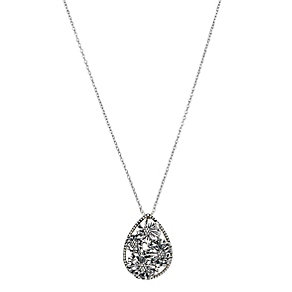 Chamilia Sterling Silver Floral Zinnia Drop Pendant - Product number 2551551