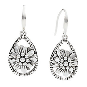 Chamilia Sterling Silver Floral Zinnia Drop Earrings - Product number 2551578