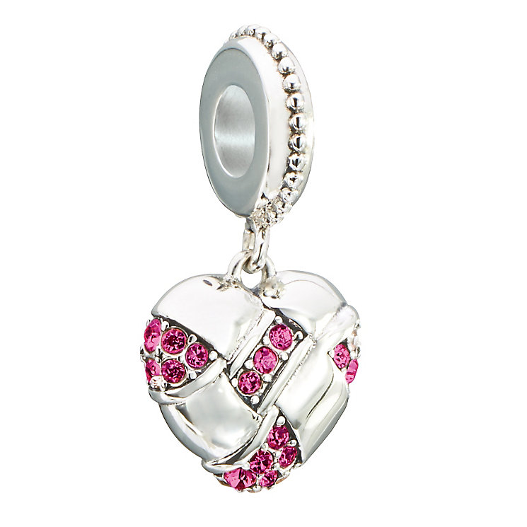 Chamilia Silver & Swarovski Crystal Home Spun Heart Bead - Product number 2551586