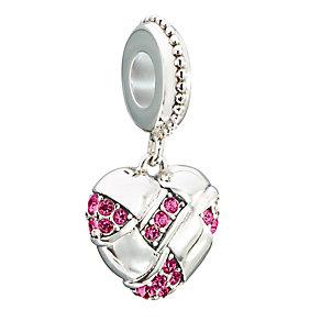 Chamilia Silver & Swarovski Crystal Home Spun Heart Bead - Product number 2551586