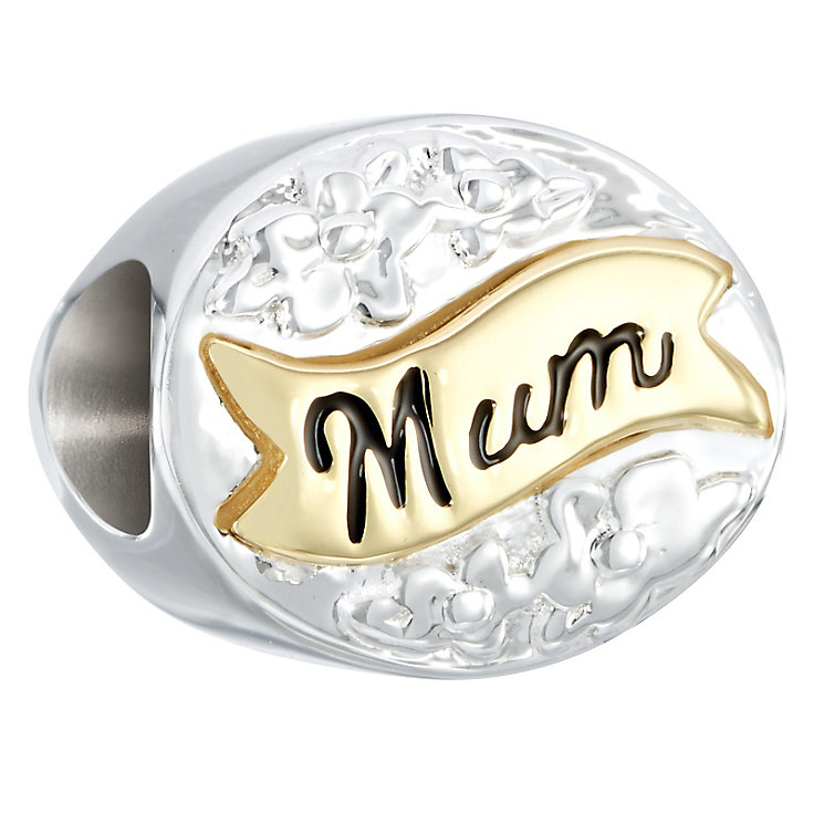 Chamilia Sterling Silver & Yellow Gold Mum Good As Gold Bead - Product number 2551683