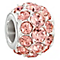 Chamilia splendor bead with peach Swarovski - Product number 2587904