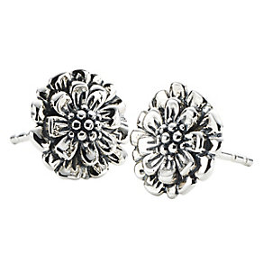 Chamilia zinnia flower stud earrings in sterling silver - Product number 2588234