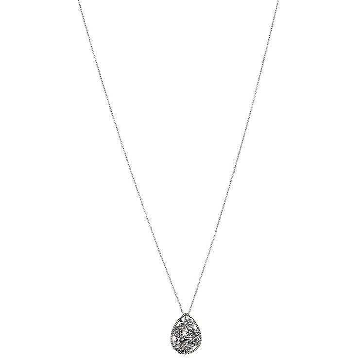 Chamilia zinnia flower drop pendant in sterling silver - Product number 2590409