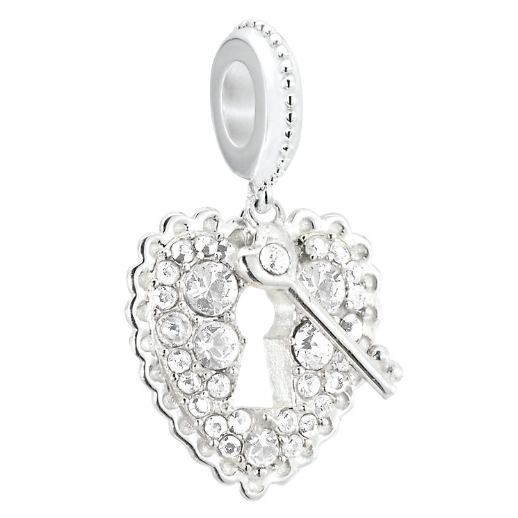 Chamilia sterling silver padlock bead with crystal Swarovski - Product number 2597284