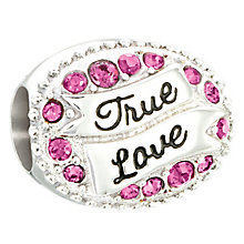 Chamilia true love sterling silver love banner bead - Product number 2597349