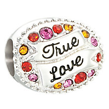 Chamilia sterling silver love banner with multi Swarovski - Product number 2597381