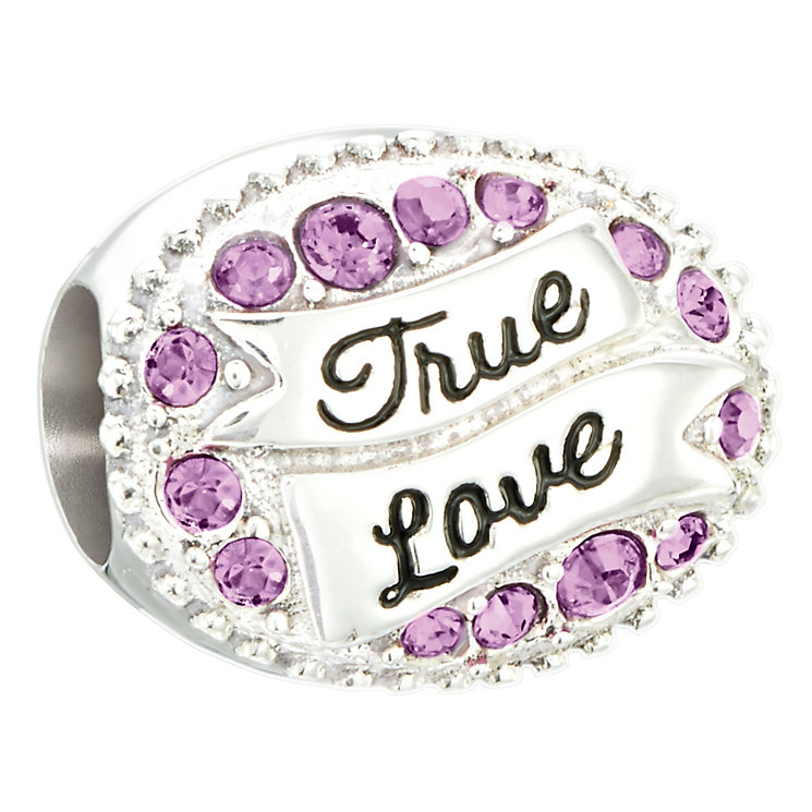 Chamilia sterling silver love banner with amethyst Swarovski - Product number 2597411