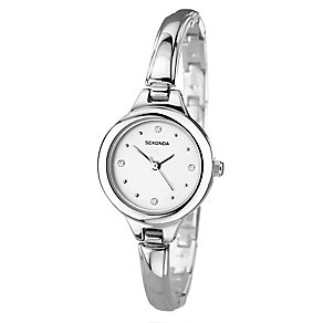 Sekonda Ladies' Silver Tone Semi Bangle Bracelet Watch - Product number 2600323