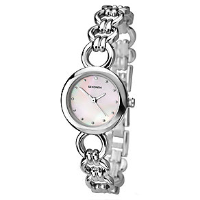 Sekonda Ladies' Pink Mother Of Pearl Silver Tone Watch - Product number 2600358