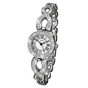 Sekonda Ladies' Silver Tone Crossover Design Bracelet Watch - Product number 2600366