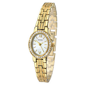 Sekonda Ladies' Gold Plated Stone Set Bracelet Watch - Product number 2600374