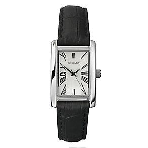 Sekonda Ladies' Rectangular Case & Black Leather Strap Watch - Product number 2600382