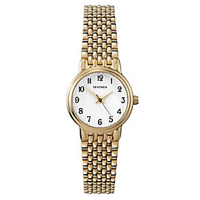 Sekonda Ladies' Yellow Gold Plated Link Bracelet Watch - Product number 2600390
