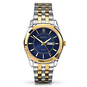 Sekonda Men's Blue Dial & Two Tone Bracelet Watch - Product number 2600404