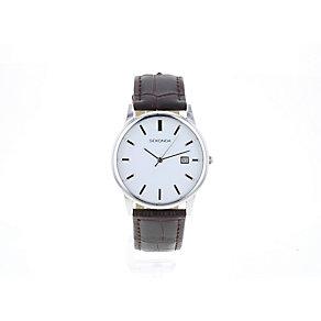 Sekonda Men's White Dial & Brown Strap Watch - Product number 2600439