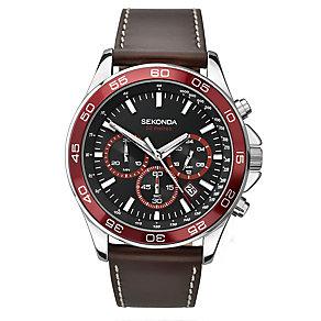 Sekonda Men's Brown Strap Chronograph Watch - Product number 2600455