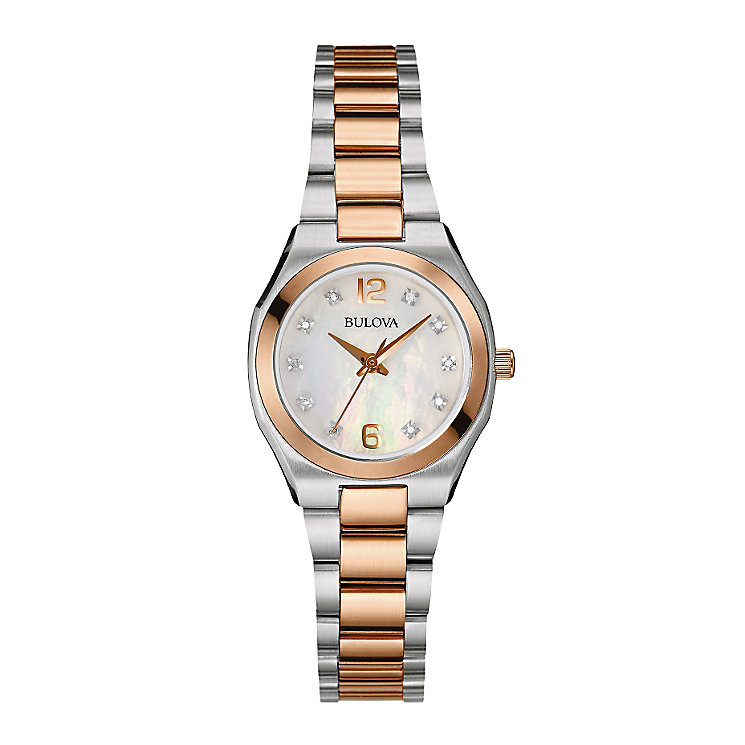Bulova ladies' two colour bracelet watch - Product number 2600773
