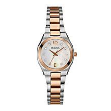 Bulova ladies' two colour bracelet watch - Product number 2600773