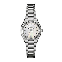 Bulova ladies' stainless steel bracelet watch - Product number 2600781