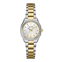 Bulova ladies' two colour bracelet watch - Product number 2600803