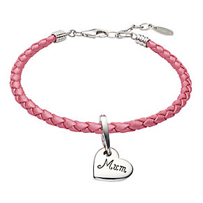 Chamilia Pink Leather Bracelet & Silver Mum Bead - Product number 2600846
