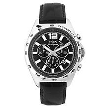 Rotary Men's Stainless Steel & Black Leather Strap Watch - Product number 2601370