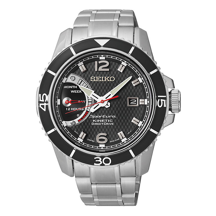 Seiko Men's Round Black Dial Bracelet Watch - Product number 2602008