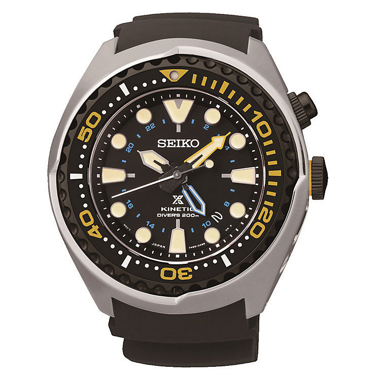 Seiko Men's Prospex Stainless Steel & Black Silicone Watch - Product number 2602040