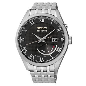 Seiko Men's Kinetic Stainless Steel Bracelet Watch - Product number 2602083