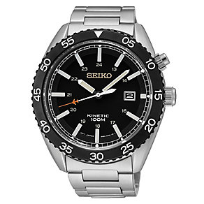 Seiko Men's Kinetic Stainless Steel Bracelet Watch - Product number 2602156