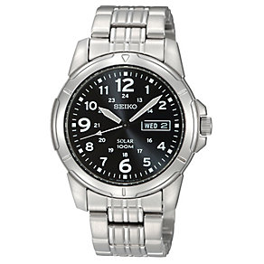 Seiko Men's Solar Stainless Steel Bracelet Watch - Product number 2602172
