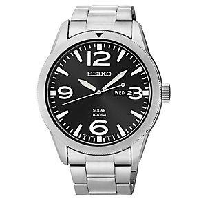Seiko Men's Solar Stainless Steel Bracelet Watch - Product number 2602180