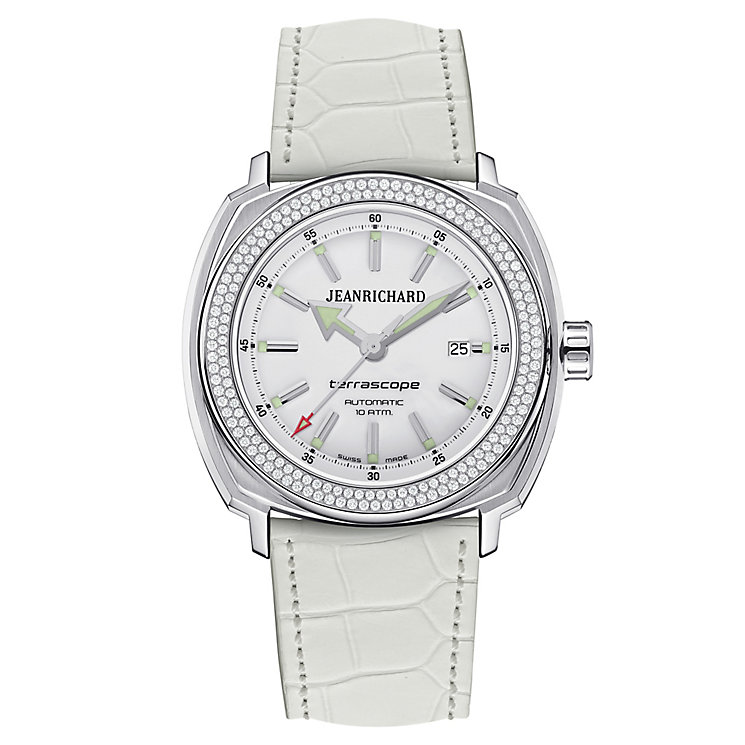 JEANRICHARD ladies' white leather strap watch - Product number 2604817