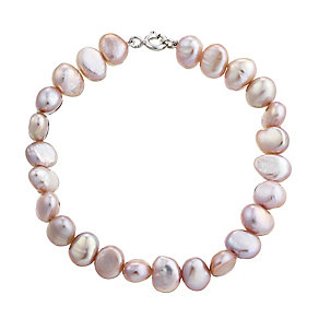 Sterling Silver and Pink Pearl Bracelet - Product number 2605074