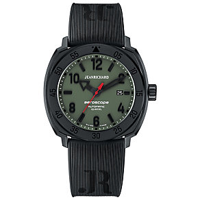 JEANRICHARD men's aeroscope black strap watch - Product number 2605279